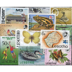 lesotho stamp packet