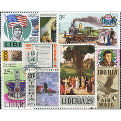 liberia stamp packet