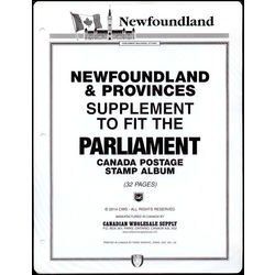 newfoundland provinces 3 holes stamp album pages