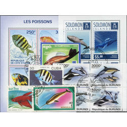 fishes on stamps