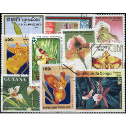 orchides on stamps