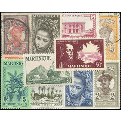 martinique stamp packet