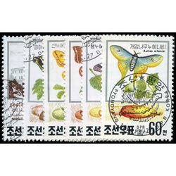 korea north stamp 2990 2995 butterflies silkworm research 1991