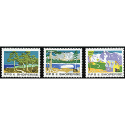 albania stamp 1972 1974 divjaka national park 1980