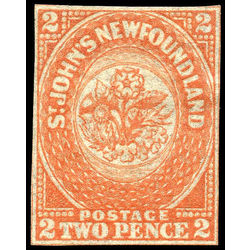 newfoundland stamp 11 1860 second pence issue 2d 1860 m f 005