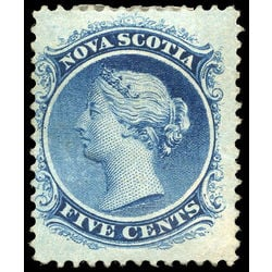 nova scotia stamp 10 queen victoria 5 1860