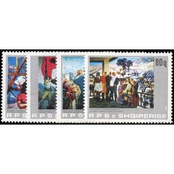 albania stamp 2077 2080 paintings 1983