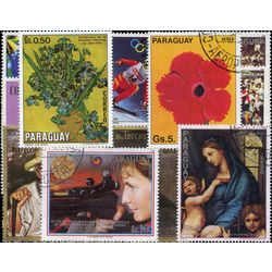 paraguay stamp packet