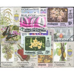penang malay state stamp packet