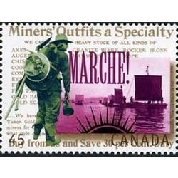 canada stamp 1606b prospectors heading for the gold fields 45 1996