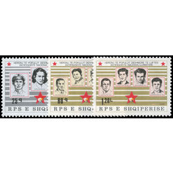 albania stamp 2207 2209 war martyrs type of 1980 1986