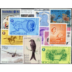 seychelles stamp packet