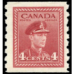 canada stamp 267 king george vi 4 1943