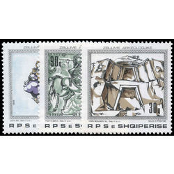 albania stamp 2300 2302 archaeological treasures 1989