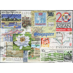 singapore stamp packet