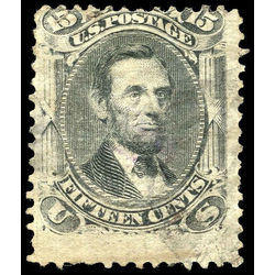 us stamp postage issues 91 lincoln 15 1867 u 001