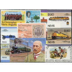 saint kitts nevis stamp packet