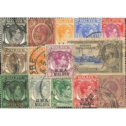 straits settlements malay state stamp packet