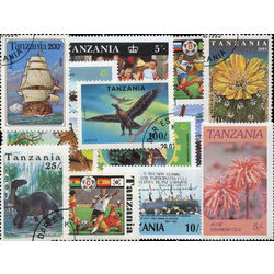 tanzania stamp packet