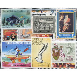 turks caicos stamp packet