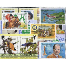 virgin islands stamp packet