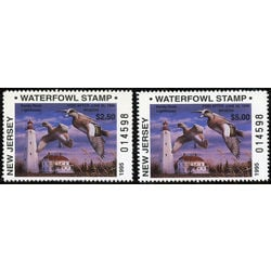 us stamp rw hunting permit rw nj25 26 new jersey widgeons lighthouse 1995