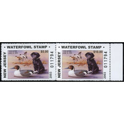 us stamp rw hunting permit rw nj41 42 new jersey pintails labrador retriever 2003