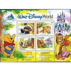 Canada Post 1996 Winnie the Pooh Walt Disney World 4 Stamp FDC Collectible