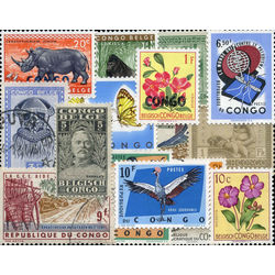 belgian congo stamp packet