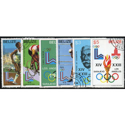 belize stamp 555 560 1984 olympics 1984