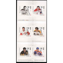 canada stamp complete booklets bk bk678 canadian hockey legends the ultimate six 2017