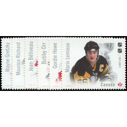 canada stamp 3027 32 canadian hockey legends the ultimate six 2017