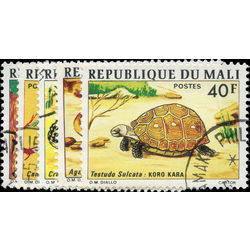 mali stamp 250 254 1910 revolution war 1997