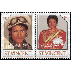 st vincent stamp 897 michael jackson 5 1985