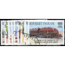 togo stamp 1264 1272 trains african locomotives 1984