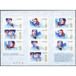 canada stamp 3084a women in winter sports 2018