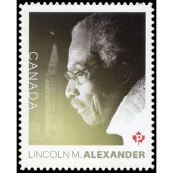canada stamp 3086 lincoln m alexander 1922 2012 2018