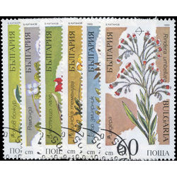 bulgaria stamp 3392 3397 flowers endangered plant species 1989