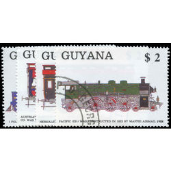 guyana stamp 2006a d trains 1989