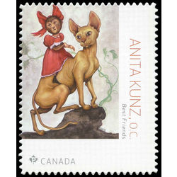 canada stamp 3093i best friends anita kunz o c 1956 2018