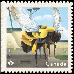 canada stamp 3099 rusty patched bumble bee bombus affinis 2018