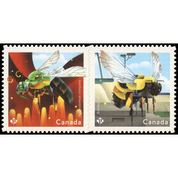 canada stamp 3099 3100 native bees 2018