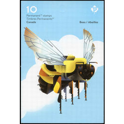 canada stamp complete booklets bk bk700 native bees 2018