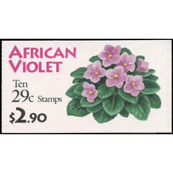 us stamp postage issues bk176 african violet 1993