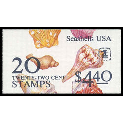 us stamp postage issues bk146 seashells 1985