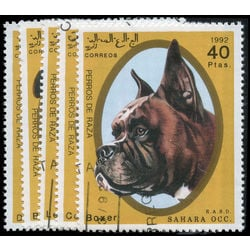 sahara stamp 5 dogs 1992