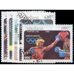 laos stamp 1058 1062 1992 summer olympics barcelona 1992