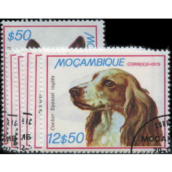 mozambique stamp 662 667 dogs 1979
