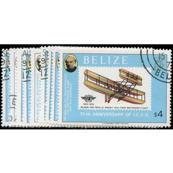 belize stamp 440 448 airplanes powered flight 75th 1979