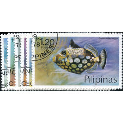 philippines stamp 1379 1384 fishes 1978